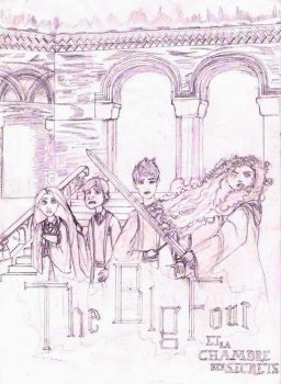 The Big Four : The secret of the Chamber - pencil by JOSGUI