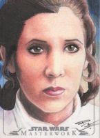 Star Wars Masterwork - Leia Sketch Art Card 3 by DenaeFrazierStudios