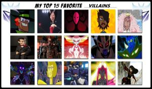 My Top 15 Favorite Villains by magmon47