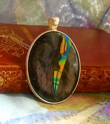 Contemporary Abstract Pendant by aldcord