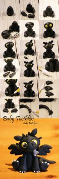 Baby Toothless Step by Step by Naera