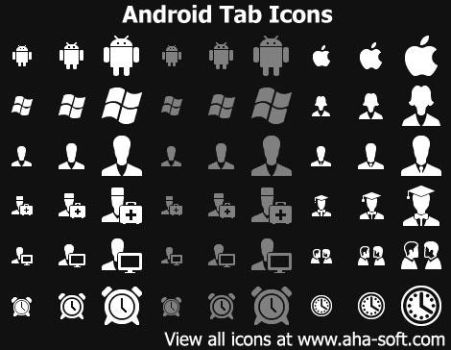 Android Tab Icons by Ikonod