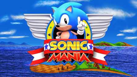 Sonic Mania Title Screen 3D Remake by alsyouri2001