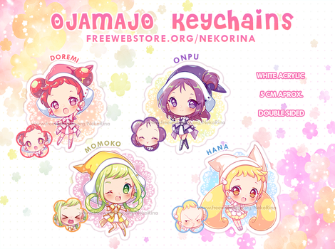 [+Video] Ojamajo Keychains, PRE-ORDER CLOSED by Neko-Rina