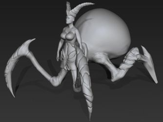 Spider Queen WIP 1 - Zbrush by 3DPad