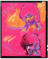 Prince fluorescent mini portrait by Sculptbrown