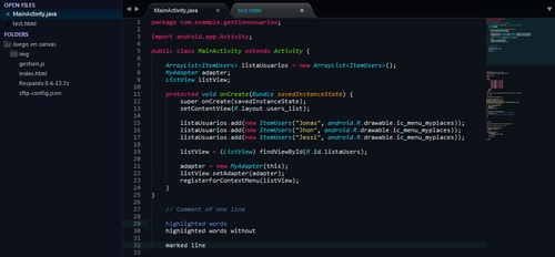Monokai Cobalt for Sublime Text by felipetiza