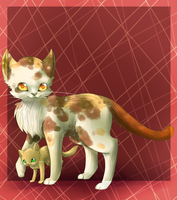 Redtail and Sandkit by chocobeery