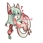 Applefiend Badge Chibi by LucciolaCrown