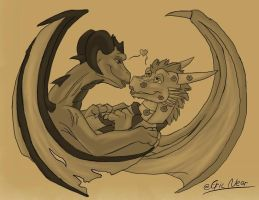 Thorn and Xena commish. by Thornacious