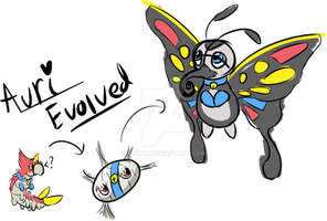 Auri Evolved to Silcoon/Beautifly