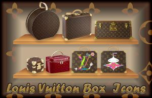 Louis Vuitton Box Icons by princessang2644
