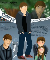 Justin Steven Calloway Reference sheet by Gerundive