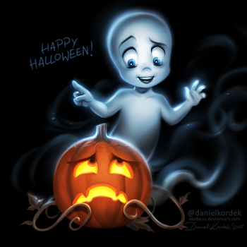 Casper Says Happy Halloween by daekazu