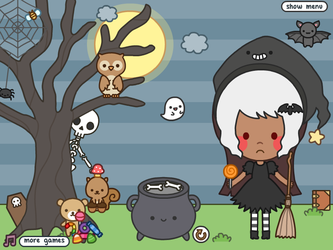 Buttons Halloween Dress Up Game by AnOnA-Q8