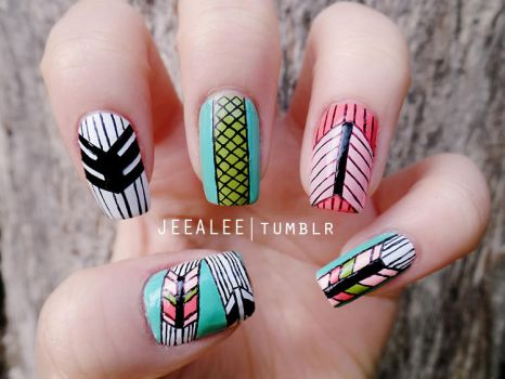 Awesome nail art favourites by naileditwithglitter on deviantart kookylmhnails 2 0 geometric nails by jeealee prinsesfo Choice Image