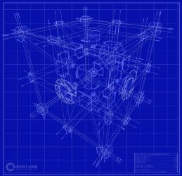 Companion Cube Schematic by apach3