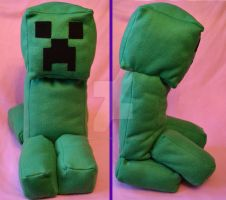 Creeper Plush by iamwinterborn