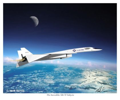 The Incredible XB-70 Valkyrie by markkarvon