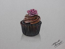 Cupcake DRAWING by Marcello Barenghi by marcellobarenghi