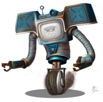 Beep-bloop, i'm the robot from the Fallout NV by DarthAgnan