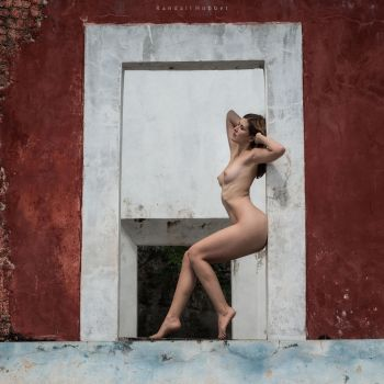Sienna at an abandoned hacienda by rdhobbet