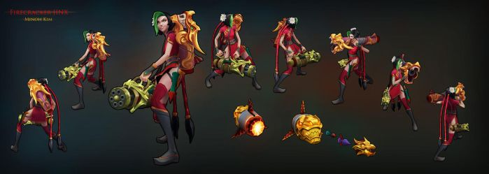 League of Legends - Firecracker Jinx skin by MinohKim