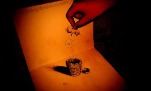 3D Drawing - Black Hole by EdyZhng