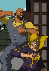 Luke Cage and Iron Fist final color by Marvelzukas