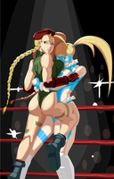 Mika Vs Cammy by morganagod