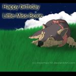 Happy birthday Little-Miss-Boxie by moichao10