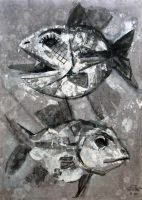 Two Silver Fish I. 1998 by Yudaev