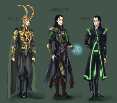 Loki Outfits by LadyDeadPooly