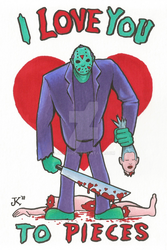 Friday the 13th Valentine by JMKohrs