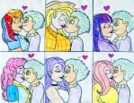 Spike Multi-Kissing by Jose-Ramiro
