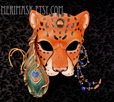 Peacock Leopard Mask #1 by merimask