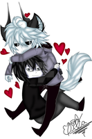 Wolf Kcalb And Human Laughing Jack by UkyoLovest