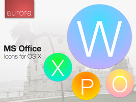 Microsoft Office Icons - ''Aurora'' by ChildrenAreWatching