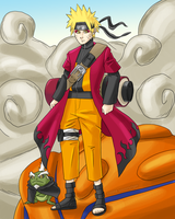 Sage Naruto Appears (2009) by spoonyliger