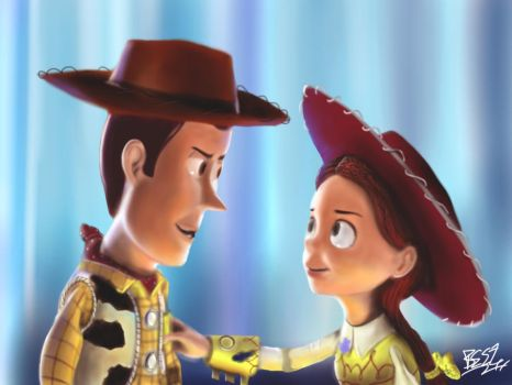 Woody And Jessie Toy Story 3 by Singabee