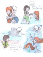 Doodle Sketch - Jarida Mermaid AU by twinscover