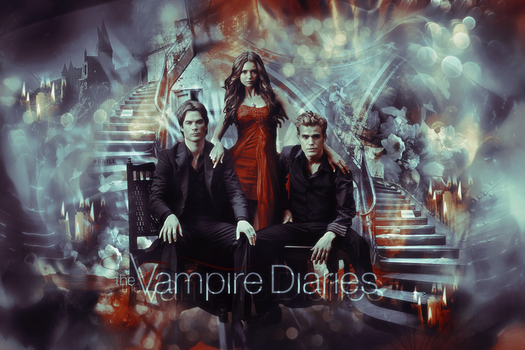 The Vampire Diaries Header by lucemare