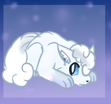 Poketober - Alolan Vulpix - Day 9 by halothekittycat