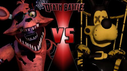 Withered Foxy vs. Twisted Boris by OmnicidalClown1992