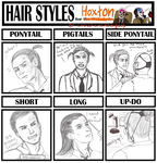 Hairstyle meme for Hoxton by lizathehedgehog