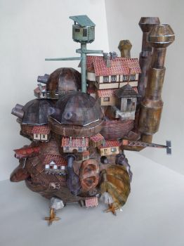 Howl's Moving Castle PaperCarft by supermacito