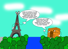 Eiffel Tower and Arc de Triomphe discussion by Christopia1984