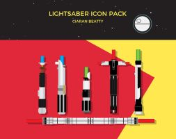 Lightsaber Icon Pack by zroxaszz