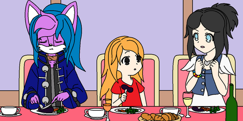 Dinner time by VeronicaPrower