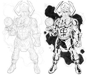 GALACTUS commission pencils and inks by timothygreenII